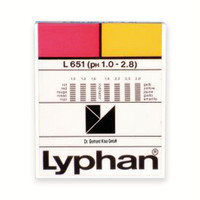 Bandelettes indicatrices de pH LYPHAN